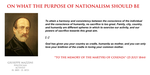 Giuseppe Mazzini - purpose of nationalism by YamaLama1986