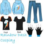 Rainbow Dash Costume Design by YuiRainbowStar