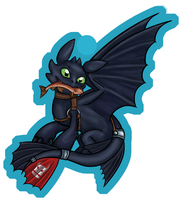 Toothless Charm v1 by TeaKayBlue