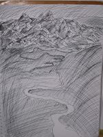 Art Class XIX: Ink Mountains by Ark-of-Menphis