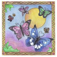 Butterfly Skies by Spiralpathdesigns