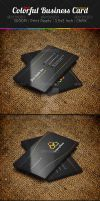 Colorful dark business card Template by ExtremeLogo