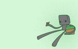 Enderbro Wallpaper 01 - Green by The-Greys