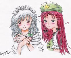 Sakuya and Meiling by lyung