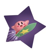 Surfin' Kirby by Zetareactor