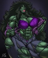 She Hulk's Bra by Osmar-Shotgun
