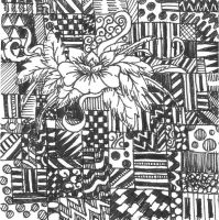 Black and White Doodle by Roxyielle
