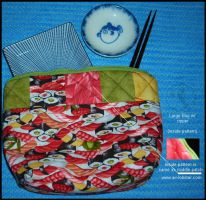 Sushi Pattern Bag 2 - LG by airlobster