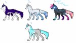 wolf adoptables [closed!] by wolfleader16