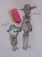 Chalk and Sn0wman by accailia118