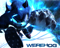 Werehog Wallpaper:: Fusion by SpyxedDemon