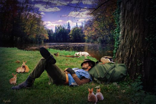 Quand le chasseur s'endort ..... by Eymele