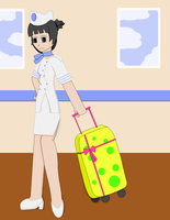 Rhoda and Her Suitcase by TheLimeTangerine