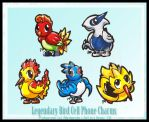 Legendary Bird Cell Charms by Ahr0