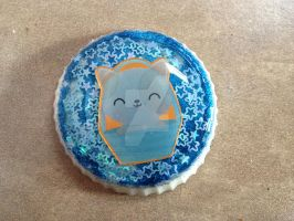 New resin piece- blue kitten! by muffinthehamster11