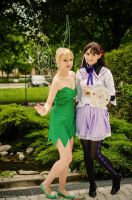 Homura Akemi and Tinkerbell cosplay by nezumichaan