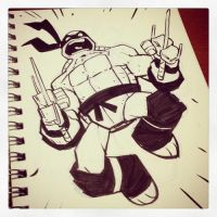 Raph ink sketch by DerekLaufman