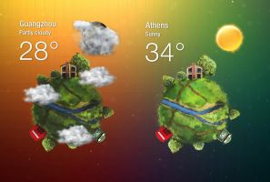 Planetary Weather for xwidget by jimking
