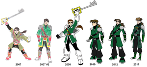The Evolution of KH3 Logan by HewyToonmore