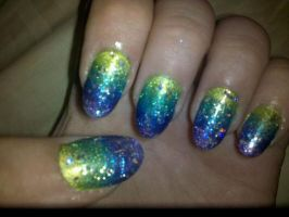 Custom Nails 2-Radiation by XOMBIE-OCTOPUS-QUEEN