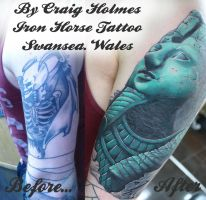 Ramses the great cover up tattoo by craig holmes by CraigHolmesTattoo