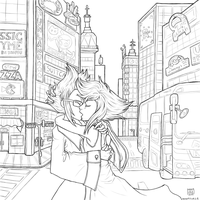 In the City (Lineart) by Manasurge