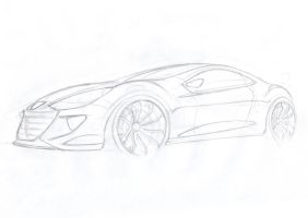 Peugeot-sketch by Morfiuss