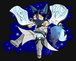 Blue Fox by SakuraSadameWingz