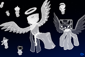 weird angels by Master-0f-Puppets