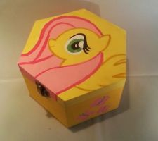 Fluttershy jewelry  box hand painted by LightningChaser