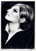 Barbra Streisand 17 graphite by Ethan-Carl