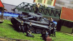 German resting Infantry and an Tiger Tank by DasMarc
