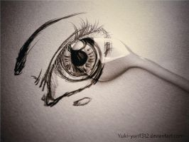 Tear on my eye by Yuki-yuri1312
