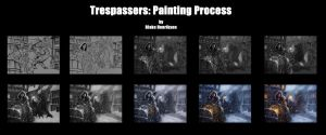 Trespassers Painting Process by pinkhavok