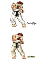 RYU : STREET FIGHTER II by viniciusmt2007