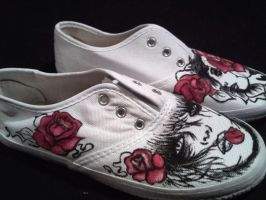 Painted shoes Roses by keopsa