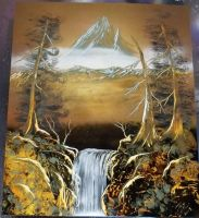 Ice Mountain Spray Painting by JayLatour