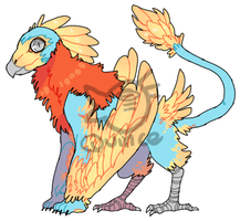 Lionbird Adoptable [closed] by QuinceyFlick