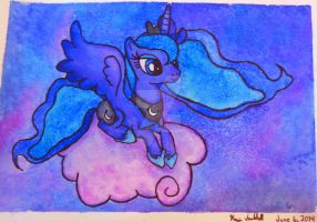 Luna in the sky by HippocornDesigns