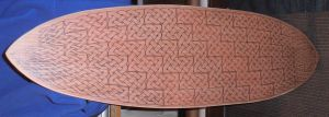 WIP: Celtic Knotwork cruiser wide skate deck. by JARM13