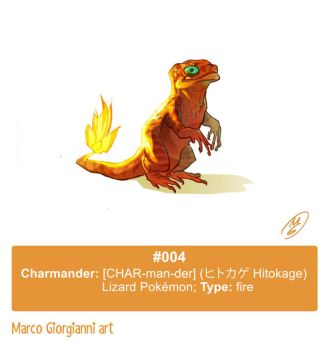 #004 Charmander by MarcoGiorgianni