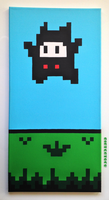 Super Mario 2 (USA) - Ninji Scroll Art by nintentofu