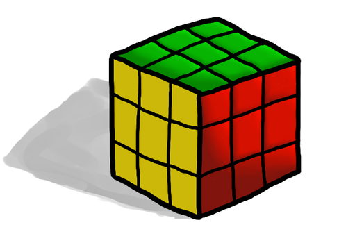 Rubik's Cube by nickknax