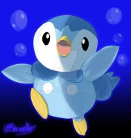 Playful Piplup by Cazza2010