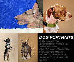 Traditional Dog Portraits by 9lbs