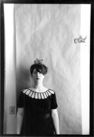 Black and White Self Portrait by Lady-with-a-buzzsaw