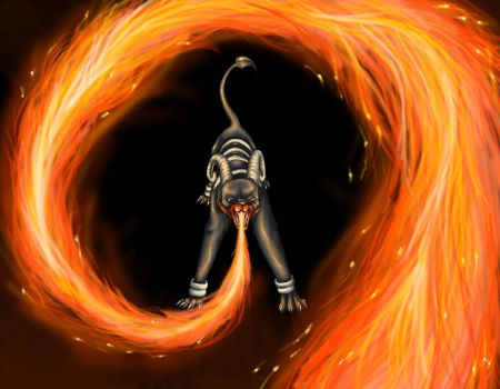 Trapped in spiraling Hellfire by Endivinity