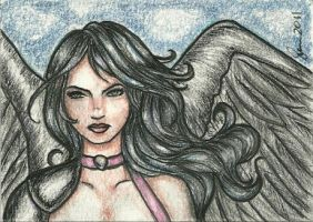 Solitary Raven  - Sketch Card by ArtOfRivana