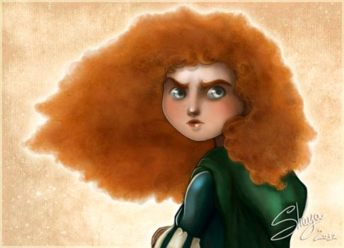 Merida's face +detail+ by 77Shaya77