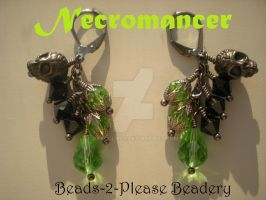 Necromancer Guild Wars 2 Inspired Earrings by beadclass